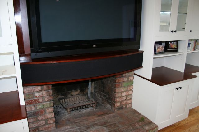 Speaker Mounted Inside Mantel