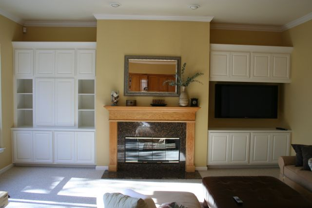 Built-in cabinet with LCD TV